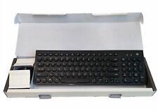 Ajazz 325i Retro Round Mute Wireless Black Keyboard + 1600DPI 4 Buttons Mouse