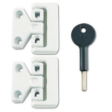 YALE 8K106 Window Swing Lock - White 2 Locks + 1 Key