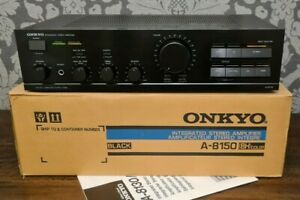 ONKYO A-8150 INTEGRATED AMPLIFIER WITH MM MC PHONO STAGE Exc CONDITION WITH BOX