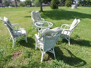 WINTERGARTEN Sessel und 1 Tisch Rattan Neu