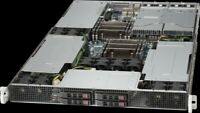 1U 4 Bay SFF Server Mining 3 GPU Tesla Slot Xeon E5-2695 V2 24 Core 2.4Ghz 128GB