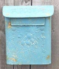 Métal Style Vintage Post Paroi de la Caisse Boîte à Lettre en Bleu