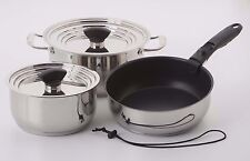Galleyware 9-pc. Non-Stick  Nesting Induction Cookware Set
