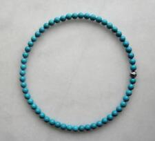 Natural Turquoise Tibet Argent Perles 8 mm Bohême collier 18 In (environ 45.72 cm)
