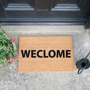 Novelty Brain Teaser Doormat - Weclome Your Guests