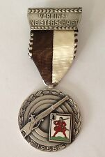 Vereins Meisterschaft 1955 Large Germany Medal Badge Pin Gun Rifle Rare (N10)