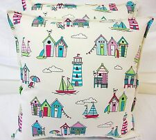 A NEW CUSHION COVER MADE IN CHATHAM GLYN  HAPPY DAYS BEACH HUTS