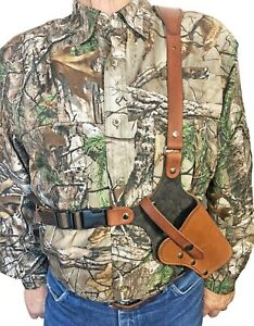 Sportsman's Chest Holster for Ruger Revolvers Brown Leather Made in the USA