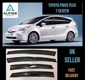 Toyota Prius Plus 7 Seater 2016-2017 Window Visor Deflector Sun Rain Guard Smoke