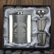 Pocket 7oz Stainless Steel Hip Flask Set Liquor Wedding Party Drink