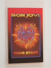 Bon Jovi Laminated TOUR STAFF Backstage Keep The Faith Tour Pass