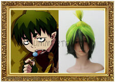 Amaimon Short Black Green COSPLAY Wig 84700 Multi-Color Blue Exorcist