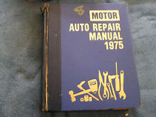 Motor Auto Repair Manual 1975 38th Edition