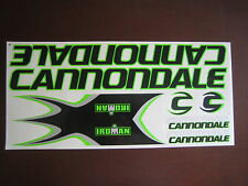 Cannondale Stickers  Set  Black, Green & Silver.