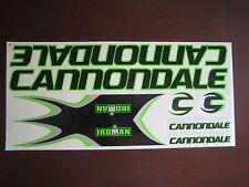 Cannondale Iroman Stickers Black, Green & Silver.