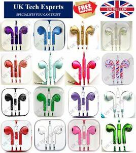 Headphones Headsets Earbuds Earphones With Mic Colour Chrome Metallic 3.5mm Jack