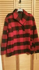 Rampage® Carrie Classic Plaid Peacoat Red Plaid
