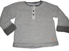 H & M tolles Langarm Shirt Gr. 86 / 92 grau-grün gestreift !!