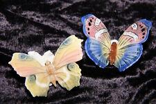 Zwei fantastischer Porzellan Schmetterlinge Enz Mühlenmarke