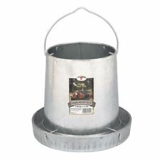 "Miller Galvanized Steel Hanging Chicken Feeder Holds 12lb Feed w/ 12"" Feeder Pan"