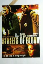 STREETS OF BLOOD STONE 50 CENT KILMER MOVIE 5x7 FLYER MINI POSTER (NOT A movie )