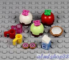 LEGO - 10 pcs Dessert Lot - Cake Pie Doughnut Chocolate Frosting Minifigure Food