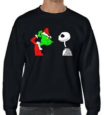 GRINCH Vs JACK SKELLINGTON Nightmare before Christmas black sweater Unisex