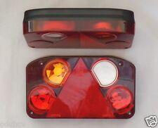 2x Rear stop lampade luci 10-30V Chassis Roulotte Camper Furgone Rimorchio