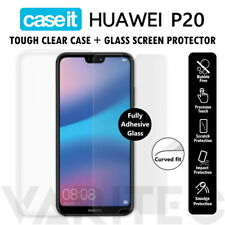 Caseit Huawei P20 Clear Case and Tempered Glass Screen Protector for Huawei P20