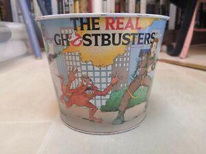 Vintage GhostBusters Metal Bin. 16cm high. 18cm diameter. Retro Ghostbusters
