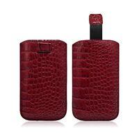 Housse Coque Etui Pochette Style Croco Couleur Rouge pour Nokia Lumia 720 / Lumi