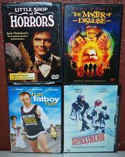 4 DVD'S RUN FATBOY RUN SPIES LIKE US MASTER OF DISGUISE LITTLE SHOP OF HORRORS