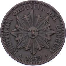 O2062 URUGUAY 4 centesimos 1869 A Paris ->Make offer