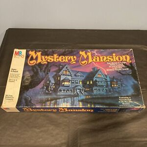 1984 Milton Bradley Mystery Mansion Board Game Near Complete in Box Made In USA