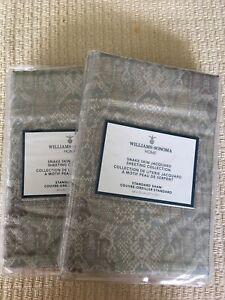 Set/2 Williams Sonoma Home Snake Skin Jacquard Collection Standard Shams