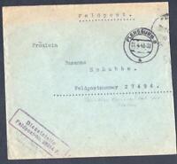 DANEMARK-old letter feldpost FLENSBURG   YEAR 1943