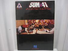 Sum 41 All Killer No Filler Sheet Music Song Book Songbook Guitar Tab Tablature