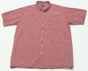 Great Northwest Red Dress Shirt Short Sleeve 2XLT Mans Button Up Pocket XXL Tall