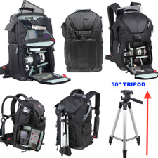 """VIVITAR XL BACKPACK SLING CARRYING CASE + 50"""" PRO TRIPOD FOR CANON NIKON SONY"""