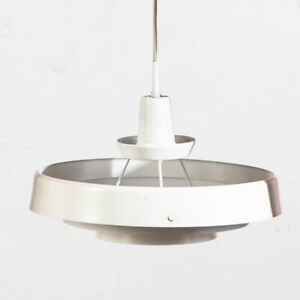 Mid Century Danish Modern Pendant Lamp Light Lyfa White Hanging Denmark