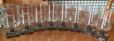 8 VINTAGE LIQUEUR GLASSES ETCHED VINTAGE CARS CORDIAL 1962 CHEVY