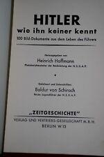 """LIVRE RARE  """"Hitler, comme personne ne le connaît"""" 100 photos HOFFMANN"""