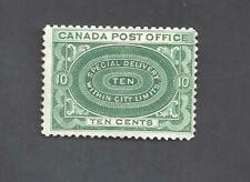 Canada 1898 SPECIAL DELIVERY SCOTT E1ii DEEP GRN NO SHADING MLH (BS19974)