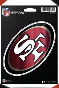 ✅ NFL San Francisco 49ers Metallic Colors  Sticker Large Die Cut Decal Rico Inc