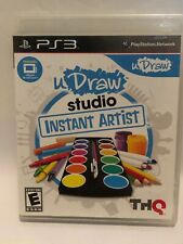 U Draw Studio Instant Artist Playstation PS 3 PS3 Manual ADULT OWNED GAME SEE
