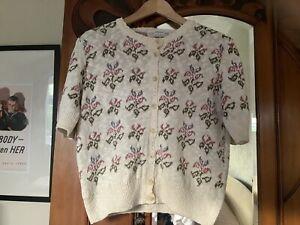 Vintage St Michaels Cardigan/jumper Ideal 1940s Re-enactment. Size 12/14