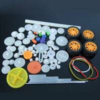 78 Kinds Plastic Shaft Single Double Reduction Crown Worm Gears DIY For Robot AU