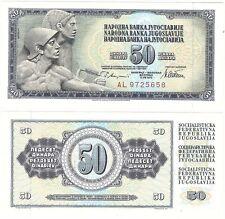 JUGOSLAVIA 50 Dinara 1978 P-89a NEUF UNC FIOR BANCONOTA COMUNISTA