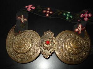 ANTIQUE RRR PRIMITIVE FOLK ART BULGARIAN SILVER BUCKLE BELT PAFTA