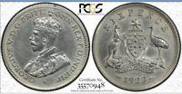 1923 australian sixpence coin Graded PCGS AU DETAIL